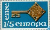Postzegels - Ierland - Europa – Sleutel
