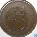 Coins - the Netherlands - Netherlands 5 cents 1976