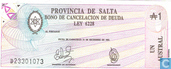 Billets de banque - Provinciaalgeld - Argentine 1 Austral 1987 (Salta)