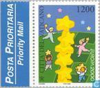 Postage Stamps - Vatican City - Europe – Tower of stars