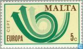 Timbres-poste - Malte - Europe – Cor postal