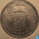 Coins - the Netherlands - Netherlands ½ gulden 1929 (3 pearls under GI)