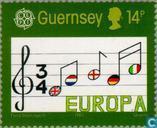 Postzegels - Guernsey - Europa – Jaar van de muziek