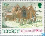 Timbres-poste - Jersey - Eglises