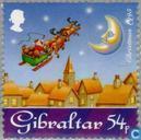 Timbres-poste - Gibraltar - Santa