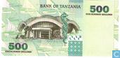 Billets de banque - Benki Kuu Ya Tanzania - Tanzanie 500 Shilingi