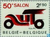 Timbres-poste - Belgique [BEL] - Exposition de l'automobile à Bruxelles