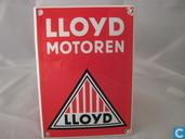 Emailleschilder - Logo : Lloyd - Emaille Bord : Lloyd