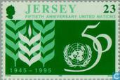 Postage Stamps - Jersey - UNO 50 years