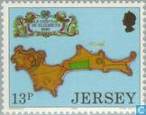 Timbres-poste - Jersey - Forteresses