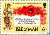 Postage Stamps - Man - British Legion 1921-1981
