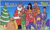 Briefmarken - Malta - Weihnachten Szenen