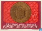 Timbres-poste - Liechtenstein - Prince Franz Joseph II 70 années