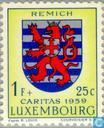 Timbres-poste - Luxembourg - cantons armes