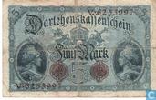 Billets de banque - Darlehenskassenschein - Mark Allemagne 5
