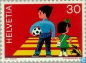 Postage Stamps - Switzerland [CHE] - Children in traffic