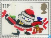Postage Stamps - Great Britain [GBR] - Christmas, children's drawings