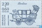 Postage Stamps - France [FRA] - Mail-coach 'Berline' around 1837