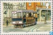 Postage Stamps - Man - Tram and railways