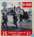 Postage Stamps - Great Britain [GBR] - Normandy invasion 50 years