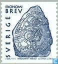 Postage Stamps - Sweden [SWE] - E-Breve Blue / White