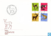 1967 animaux sauvages FDC