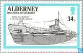 Postage Stamps - Alderney - Warships