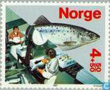 Briefmarken - Norwegen - Fisch-Kultur