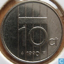 Coins - the Netherlands - Netherlands 10 cent 1990