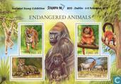Briefmarken - Irland - Gefährdete Tiere