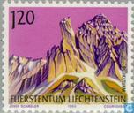 Postage Stamps - Liechtenstein - Mountains
