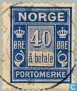 Postage Stamps - Norway - 1921 Port a Payment 40