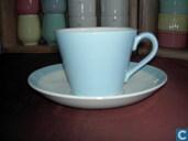 Ceramics - Pastel - Chocolade Kop en Schotel