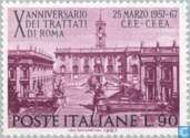Postage Stamps - Italy [ITA] - 10 years Treaty of Rome
