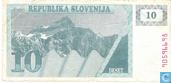 Bankbiljetten - Slovenië - 1990-1992 Issue - Slovenië 10 Tolarjev 1990