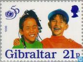 Postzegels - Gibraltar - 50 jaar UNICEF