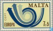 Briefmarken - Malta - Europa – Posthorn