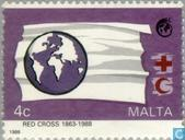 Postage Stamps - Malta - Red Cross 125 years