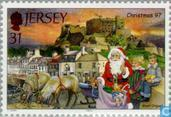 Postage Stamps - Jersey - Santa