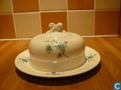 Ceramics - Boudewijn - Boudewijn botervloot met groene bloemen