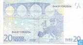 Banknoten  - Duisenberg,gedruckt von der Bank National Belgien(Belgium-Brüssel) Für Belgien - € 20 TZD