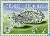 Postzegels - België [BEL] - Valschermspringen