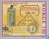 Postzegels - Noorwegen - 350 jaar Noorse post
