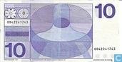 Bankbiljetten - Erflaters II - 10 gulden Nederland 1968 (bullseye)