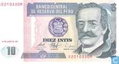 Billets de banque - Banco Central de Reserva del Perú - Pérou 10 INTIS
