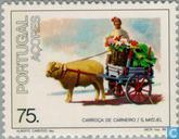 Postage Stamps - Azores - Central Transport
