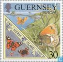 Postage Stamps - Guernsey - Europe - Nature reserves and parks