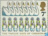 Postage Stamps - Great Britain [GBR] - The twelve days of Christmas