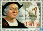 Timbres-poste - Malte - Europe – Découverte de l'Amérique