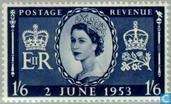Postage Stamps - Great Britain [GBR] - Coronation of Queen Elizabeth II
